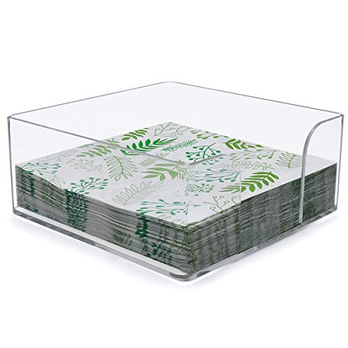 Napkin Holder, Clear Acrylic Cocktail Napkin Holder for Restaurant,Office,Party,Home Table - SupperAcrylic (Cocktail Holder)