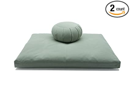 Amazon.com: Deluxe Zafu & Zabuton 2 Piece Set - Yoga ...