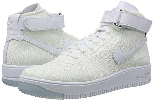de Blanco Ultra White White Baloncesto Nike para Hombre Flyknit Mid AF1 Zapatillas pwOzxnZqX4