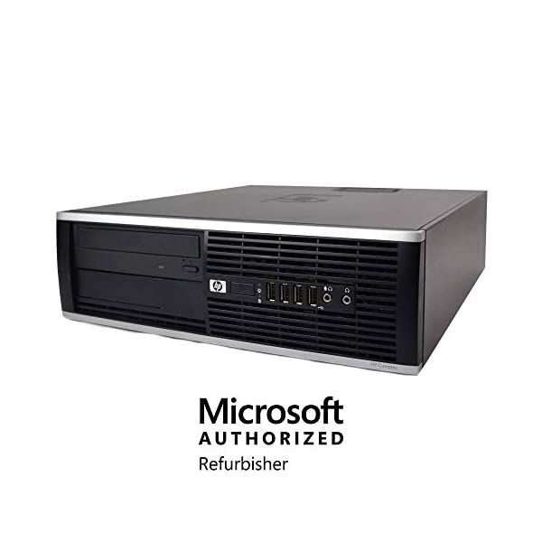 HP Elite Desktop Computer – Windows 10 Pro, Intel Quad Core i5 3.2GHz, 8GB RAM, 500GB HDD, 22″ LCD Monitor, Keyboard, Mouse, WiFi, Compatible with Microsoft Authorized Refurbished PC (Renewed)