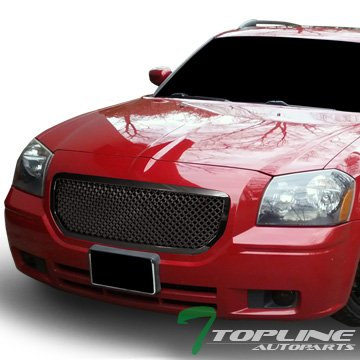 Dodge Magnum Mesh (Euro Blk Luxury Style Mesh Front Hood Bumper Grille Grill Dodge Magnum)