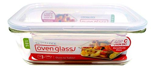 Lock & Lock LLG445 Multifunktionsbox, rechteckig, aus Glas, 1 l