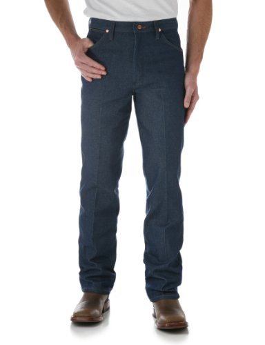 Wrangler Apparel Mens Slim Fit Cowboy Cut Jeans 34x32 Blue ()