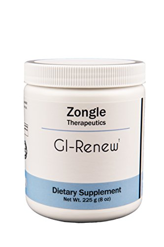 Zongle Therapeutics – GI-Renew – 225 g (8 oz) Powder – L-glutamine, N-acetyl-glucosamine, MSM, DGL plus more