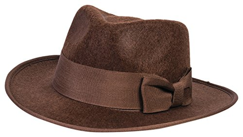 Deluxe Felt Gangster Hat - Forum Novelties Child Adventure Fedora Hat, Brown