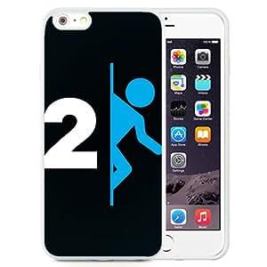 6 Plus TPU case,Portal Logo Human Black White iPhone 6 Plus TPU cover