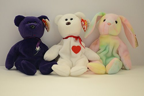 Beanie Babies by Ty Hippie, Princess and Valentino for sale  Delivered anywhere in USA