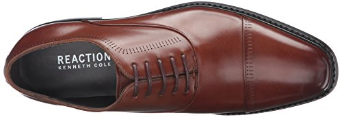 Kenneth Cole Reaction Mens Oxford Cognac Sans Repos