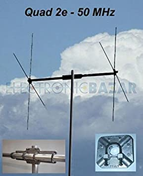 Quad Cubical antena 2 elementos banda 6 MHz, 7 m 50 dB-PKW ...