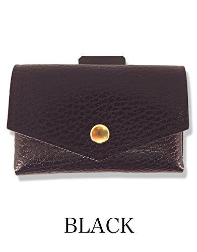 [com-ono] 【TINY-001】 革製品に異素材であるゴムを使用した、今までにない発想から生まれた次世代のミニマムウォレット B07DCBZ615 ブラック ブラック