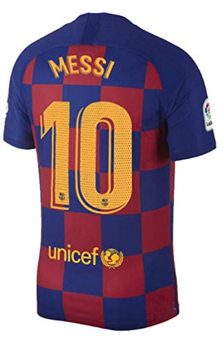 Gdfevg Messi Men's 2019-20 Barcelona Home Football Soccer Jersey #10 Jerseys (M) Blue