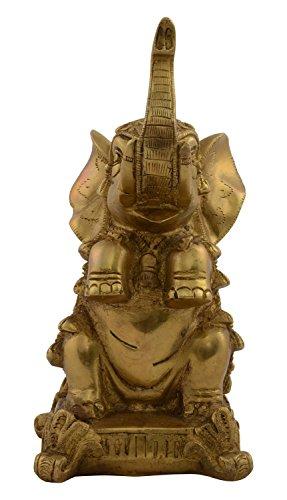 - Kapasi Handicrafts Emporium Brass Elephant Up Trunk Sitting Decorative Statue