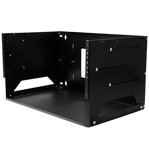 StarTech.com WALLSHELF4U Wall-Mount Server Rack, Solid Steel, Adjustable Depth 12