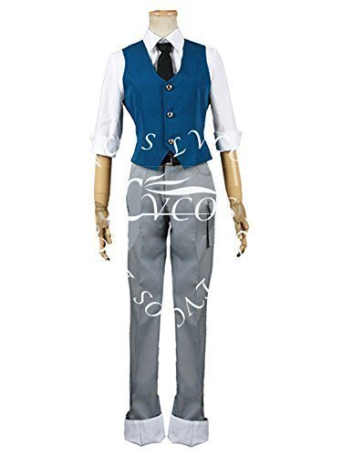 Lvcos Men's Costume Assassination Classroom Class Nagisa Shiota Suit Cosplay Costume