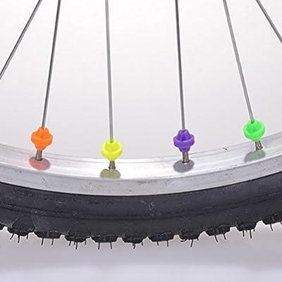 LIOOBO Rueda de Bicicleta Perlas de radios Redondas Bici Clip de ...
