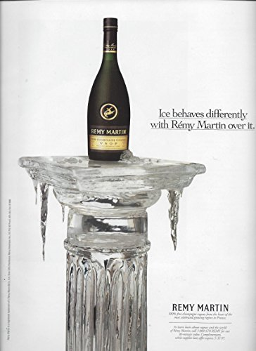 PRINT AD For 1996 Remy Martin VSOP Cognac: Ice Behaves Differently With RemyPRINT AD (Martin Remy Cognac Vsop)