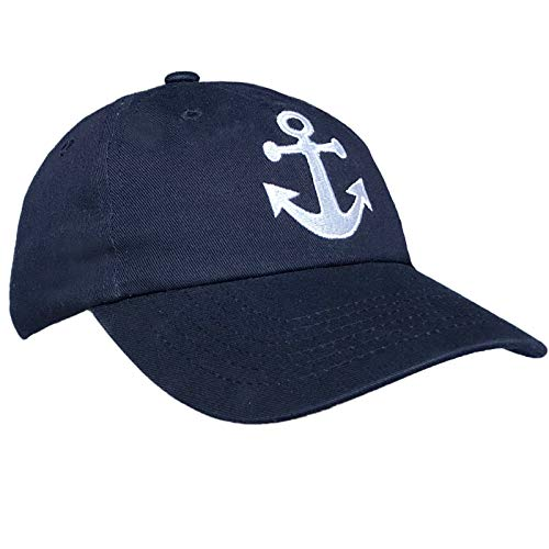 Tiny Expressions Boys' and Girls' Toddler Embroidered Anchor Baseball Hat (Navy, 2-6 Years) by Tiny Expressions