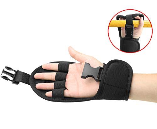 (Biange Finger Splint Brace Ability, Rehabilitation Finger Gloves with stroke Hand Splint, Use for Brace Elderly Fist Stroke Hemiplegia Hand Training, Single Hand Grip Exercise (Black))