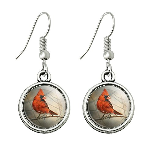 (GRAPHICS & MORE Cardinal Red Bird on Tree Branch Novelty Dangling Drop Charm)