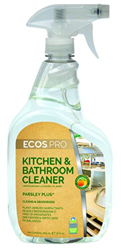 ECOS PRO PL9746/6 All-Purpose Kitchen-Bathroom Cleaner, Parsley Plus (Pack of 6)