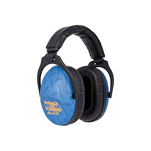 Pro Ears - ReVO - Hearing Protection - NRR 25 - Youth and Women Ear Muffs - Blue Diamond Plate