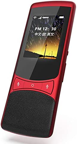 DZSF Voz Inteligente Traductor de Pantalla táctil 75 Idioma Z1 4G SIM 4G Global Netcom + Soporte de cámara sin conexión para Viajes al Extranjero Negocios,Rojo: Amazon.es: Deportes y aire libre