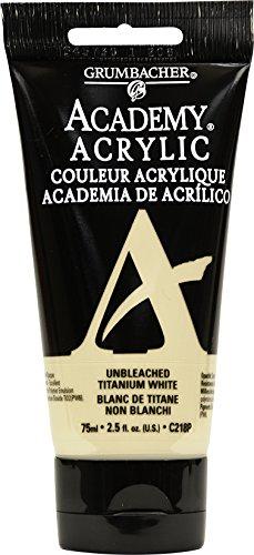 Academy Acrylic Paint, 2.54 oz, Unbleached Titanium White