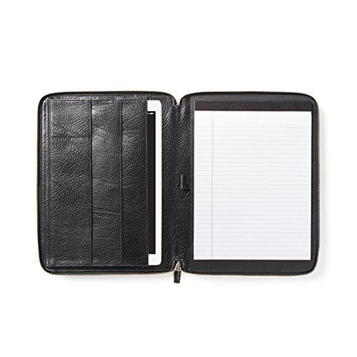 12.9 Inch Ipad Pro Portfolio - Italian Leather - Ebony (black) by Leatherology