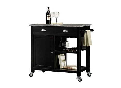 Better Homes and Garden Deluxe Kitchen Island, Black