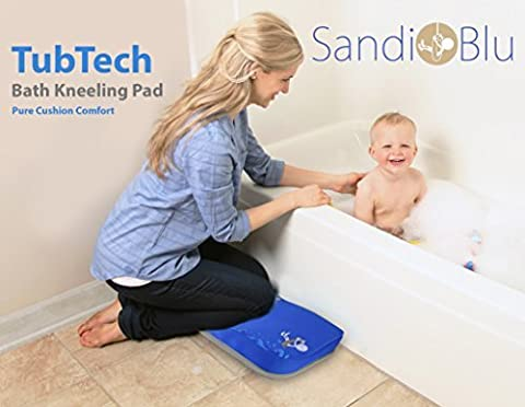 TubTech Bath Kneeling Pad for Baby Bath Time, Bath Kneeler is Placed Beside Bath Tub to Protect, Guard and Cushion Your Knees, Bath Kneeling Pad is the Ultimate Baby Bathtub - Plastic Lily Tub