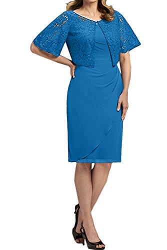 mujer Vestido trapecio para Topkleider Azul nfq1Uwx