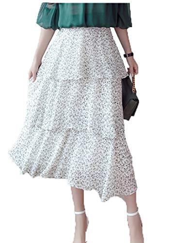 Gonna Lungo Pois Estive Semplice Gonne Donna Traspirante Campana Boern A Fit Casual Short Comodo Skirt Pizzo Slim Bianco Larghe Moda Vestito Alto Dolce Classica wqXPURzfP