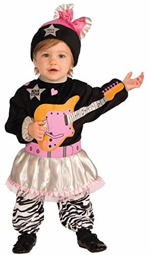 80's Rock Star Girl Costume (Forum Novelties Baby Boy's Lil' Rock Star 80's Baby Girl Costume, Multi, Infant)