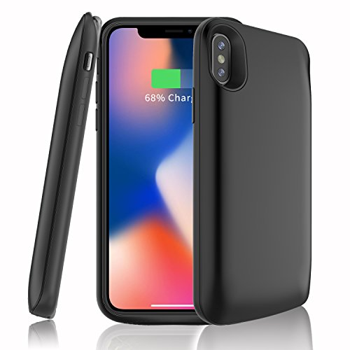 iPhone X Battery Case,6000 mAh Rechargeable External Battery Portable Power Charger Protective Charging Case Cover for Apple X