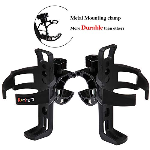 2 pcs Wheelchair Cup Holder KEMIMOTO Rollator Walker Bike Drink Cup Holder Universal fits Can Am Spyder Grab Rail Pushchair Transport Chair Motorcycle Bicycle