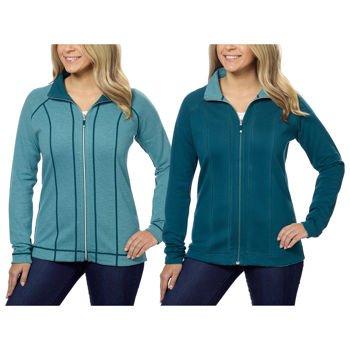 Kirkland Signature Ladies Reversible Full Zip Jacket (X-Large, Green)