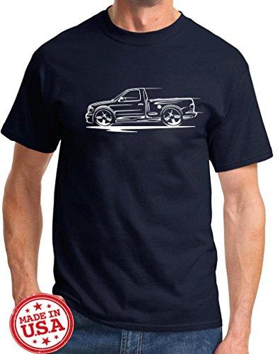 1999-04 Ford SVT Lightning F150 Pickup Truck Redline Series Outline Design Tshirt 2XL navy (Ford Lightning)