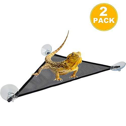 Breathable Mesh Reptile Hammock,Triangular Hanging Net Reptile Hammock for Lizard,Gecko. (Triangle 13'' x 13'' x 19'') (Terrarium Net)