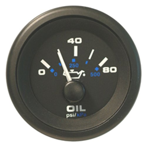 Sierra International 62720P Oil Pressure Gauge Black Premier Pro 2