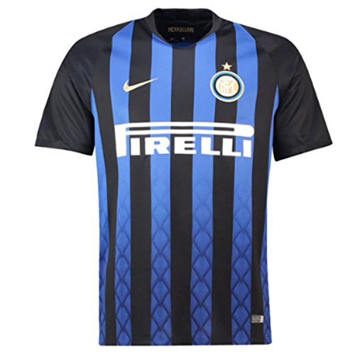 NIKE 2018-2019 Inter Milan Home Jersey (Black/Blue) (S)