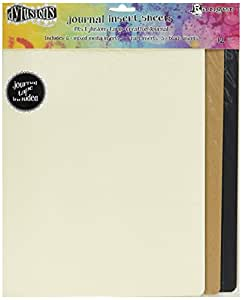 Ranger DYA49104 Dyan Reaveley's Dylusions Journal Inserts Assortment (12 Pack), Large