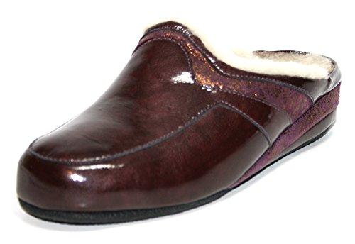 Fortuna - Zapatillas de Estar Por Casa de cuero Mujer Violett (bordo/vino 617)