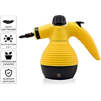 Comforday Multi-Purpose Big Capacity Handheld Pressurized Steam Cleaner with 9-Piece Accessories for Stain Removal, Carpets, Curtains, Car Seats in Bathroom, Kitchen