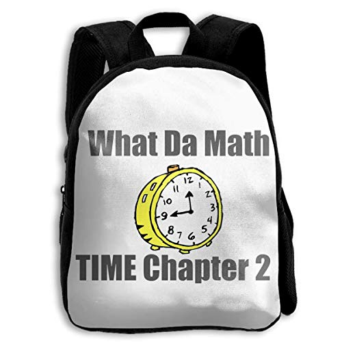 DKFDS Backpacks School Season Kids Backpack Travel Gear Daypack,Child What Da Math Time Chapter Shoulder Bag