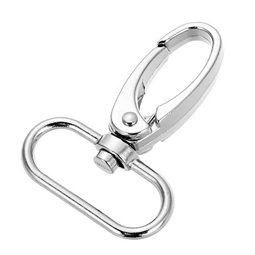 1-inch Silver Curved Lobster Clasps Swivel Trigger Clips Snap (Pack of ()