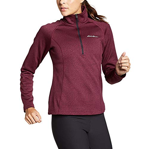 Eddie Bauer Women's High Route Fleece 1/4-Zip, Ruby