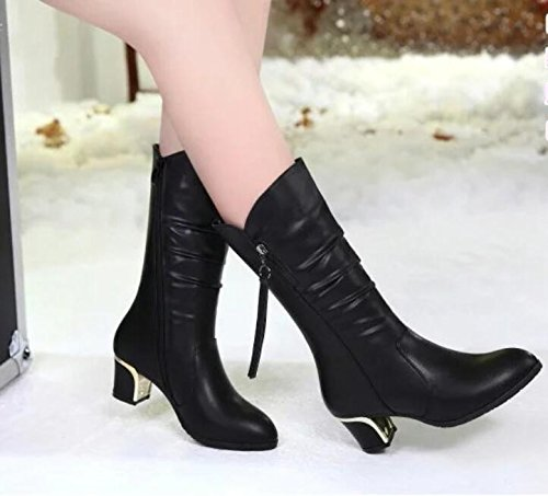 KHSKX-New Shoes New Winter Boots Boots Boots In Women With Female Boots With Thick Thirty-eight lDXdXLa