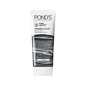 POND'S Pure White Mineral Clay Anti Pollution Purity Face wash Foam 40g