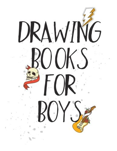 Drawing Books For Boys: Graph Paper Notebook, 8.5 x 11, 120 Grid Lined Pages (1/4 Inch Squares)