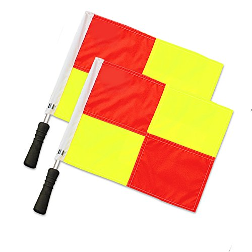 Donal Soccer Referee Flags | Official Linesman Flags (Checkered Pattern) (Soccer Linesman Flags)